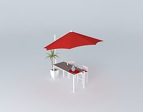 Antibes high table outside world Houses 3D model
