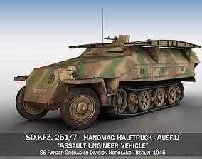 3D SDKFZ 251 Ausf D - Assault Engineer Vehicle - 542