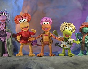 3D print model Fraggle Rock 5 characters pack colored
