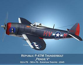 3D model Republic P-47M Thunderbolt - Pengie V