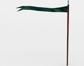 Green flag 3D model