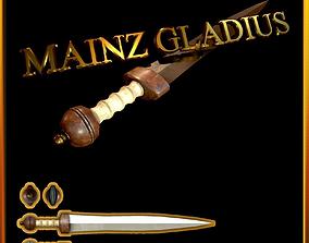 3D asset Mainz Gladius Roman Sword