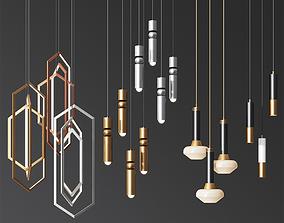 Four Hanging Light Set 05 3D model