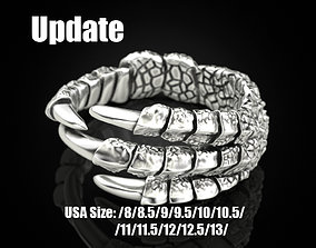 Eagle claw ring 3D printable model