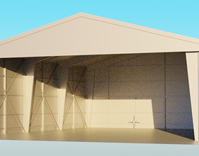 3D model Aircraft Hangar Car Garage