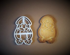 Easter egg chicken cookie cutter 3D print model
