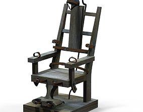 electric chair 3D asset