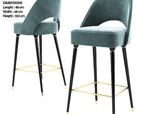 barchair Collins Bar Chair - Essential home 3D