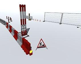 3D asset Road works pack