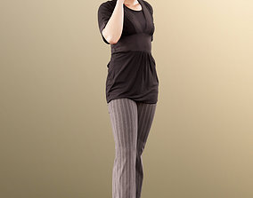 3D 11506 Alexa - woman standing with phone