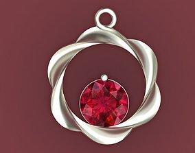 Ruby Pendant 3D printable model pendants