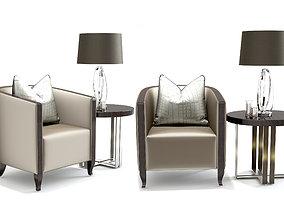 The Sofa and Chair Company Kenzo NURA BRASS TABLE 3D