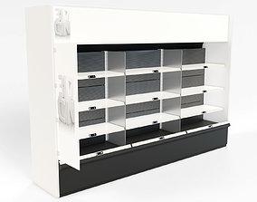 3D model Retail shelf unit