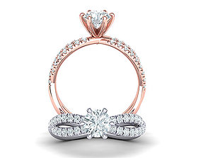 Gorgeous rope style twisted engagement ring 6claws 1