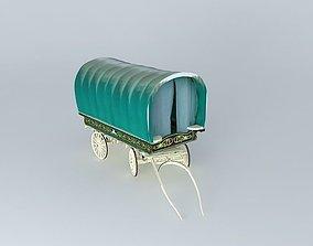 Romany OPEN-LOT Style Caravan 3D model