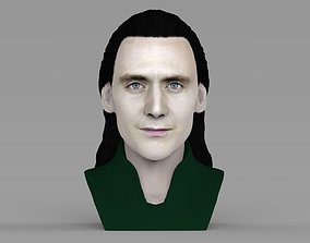 Loki bust ready for full color 3D printing