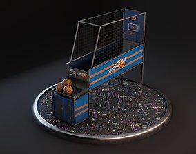 3D asset Hoops Basketball Arcade Machine - PBR GameReady