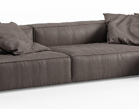 NeoWall Leather Corner Sofa by Living Divani 3D