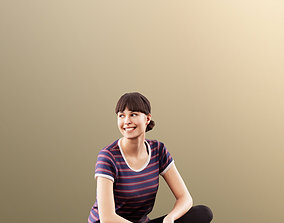 3D model 11535 Alyssa - Smiling Young Woman Sitting On The
