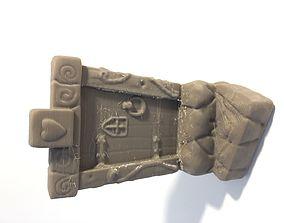 Fairy door with steps 3D print model