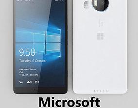 cellular 3D model Microsoft Lumia 950 XL White