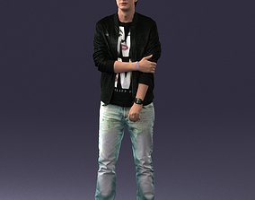 Man in a jacket and jeans 0226 3D Print Ready sneakers