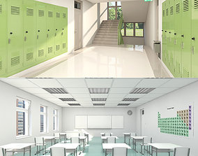 School Collection 002 3D model