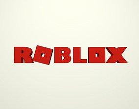 3D asset Cartoon Roblox Logo