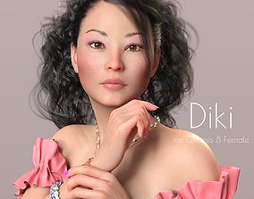 Diki - Beautiful Asian Female 3D model