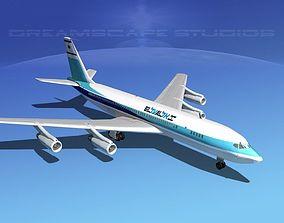 3D model Boeing 707 El Al