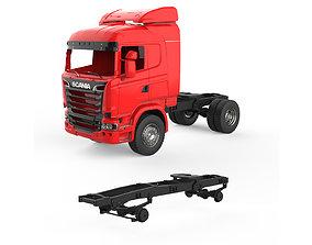 3D print model Chassis Scania R730 V8