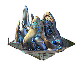 Different dimension world - guard training ground 3D model