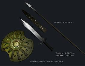 3d Greek Weapons Set