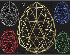 Wire Egg 3D asset