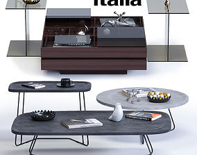 Ditre Italia Coffee Tables Set 3D asset
