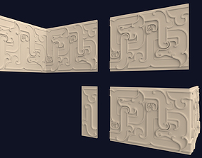 Chinese Frieze Border Ornament Pack 3D model