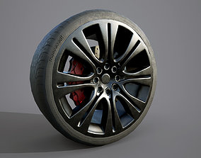 Low Poly Car Wheel 3D model