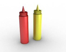 Mustard and Ketchup 3D model