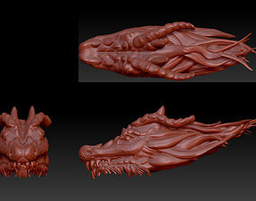 3D model dragon head