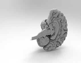 anatomically brain 3D print model