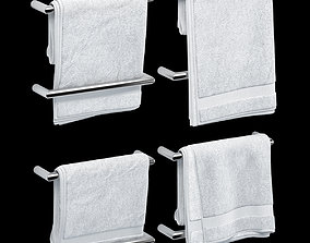 TOWELS 03 white 3D model