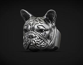 French Bulldog Ring 3d model for 3d printing