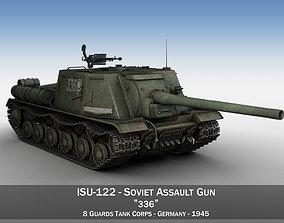 ISU-122 - 336 - Soviet heavy self-propelled gun 3D