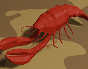 Lobster 3D asset animated