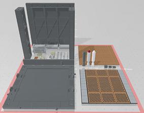 3D printable model Mecha Hangar Bay 02 Customizable