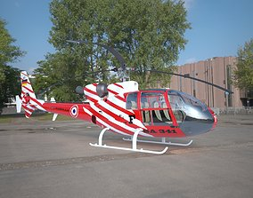 Helicopter Gazelle SA 341 3D