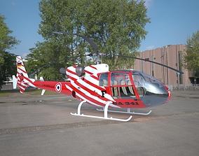 Helicopter Gazelle SA 341 3D