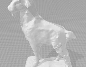 Goat With Rock Pedestal 3D printable model