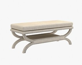 Coaster Fine Furniture fully upholstered bench 3D