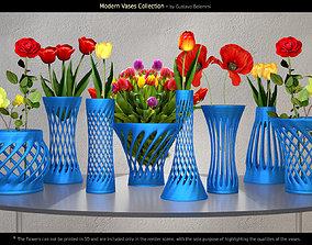 Modern Vases deco 3D model
